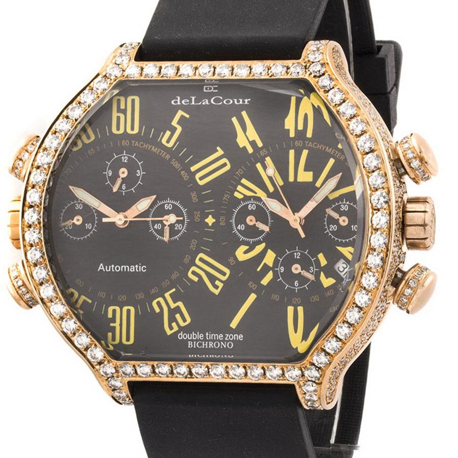Швейцарские часы de LaCour   Bichrono Baby Gold
