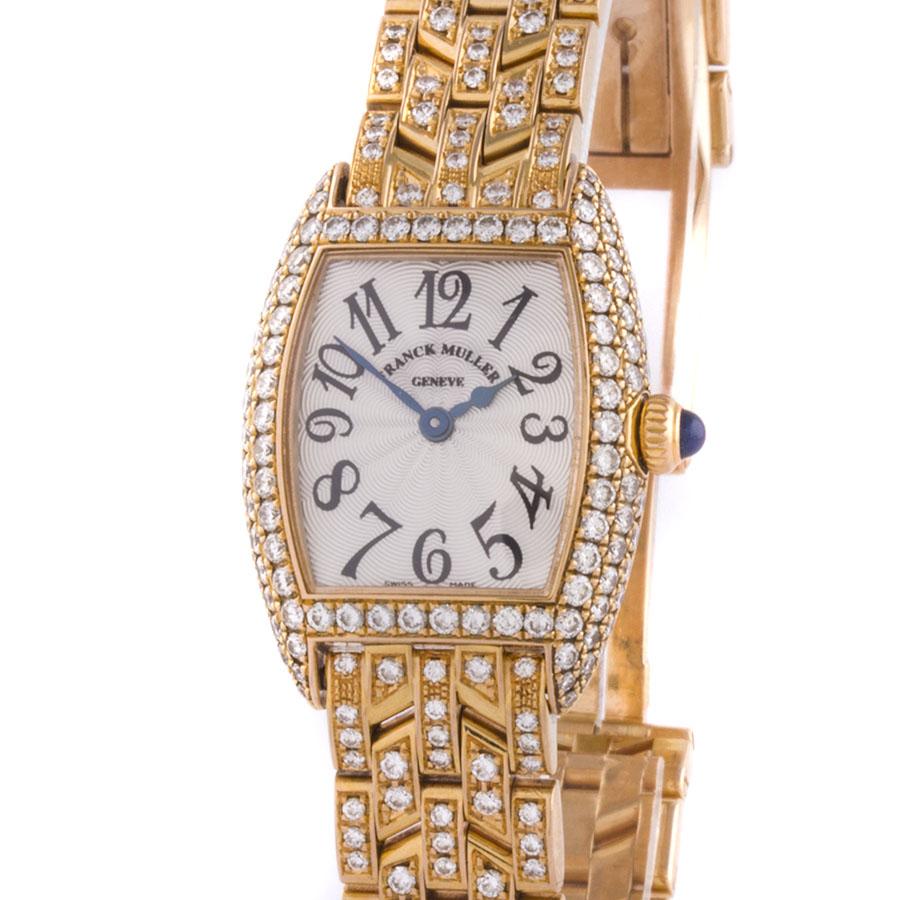Швейцарские часы Franck Muller  Cintree Curvex Rose Gold Factory Diamonds