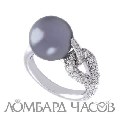 Кольцо Mikimoto  с жемчугом и бриллиантами